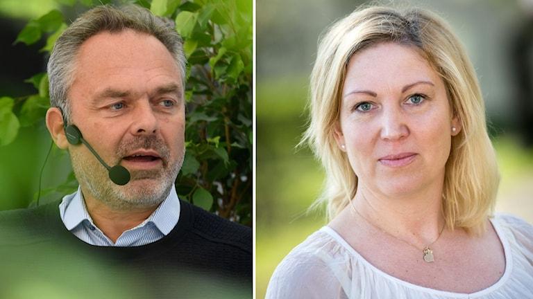 Jan Björklund (L) partiledare. Johanna Jaara Åstrand, lärarförbundets ordförande.