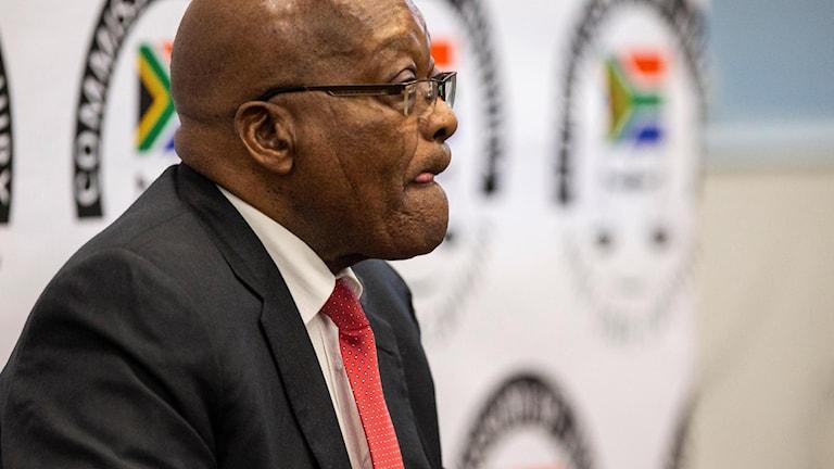 Jacob Zuma förfördes under måndagen.