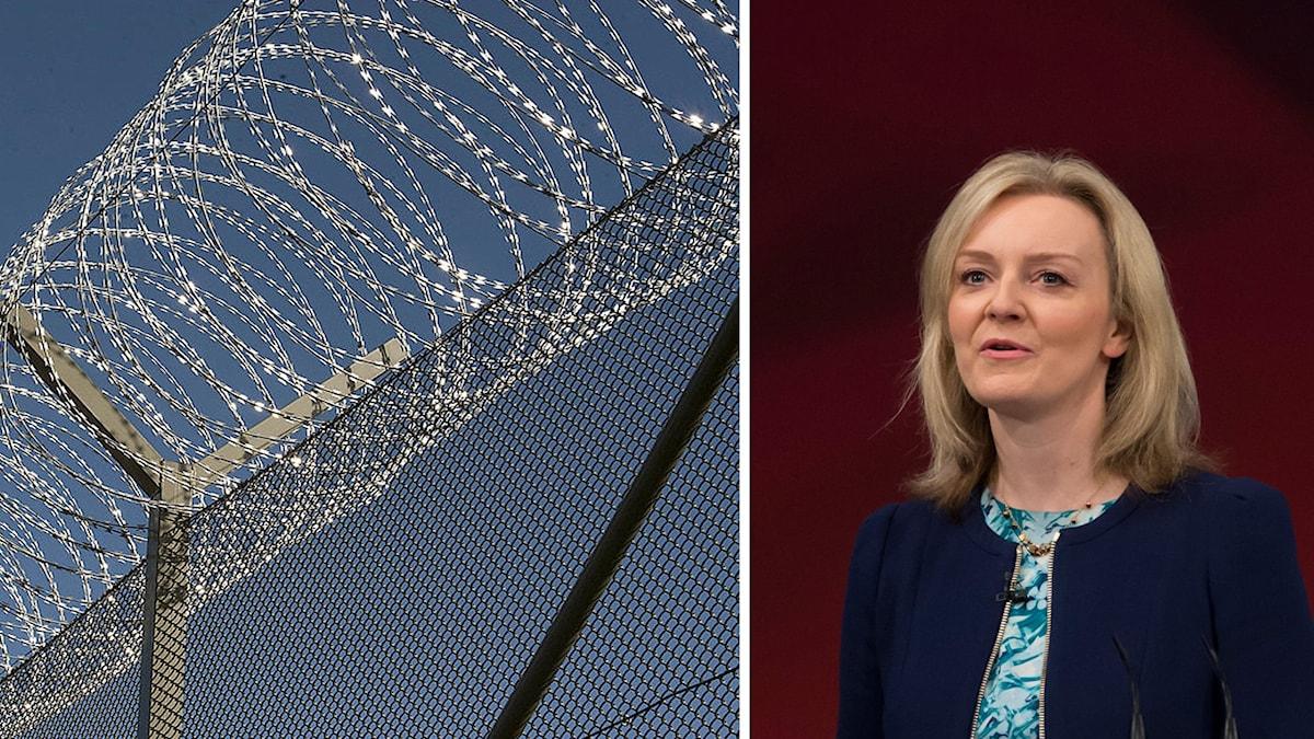 Minister Liz Truss vill separera extremister i fängelser (arkivbild).