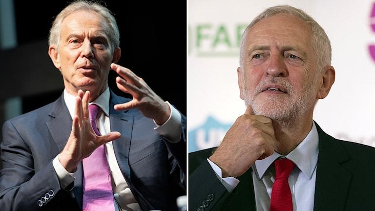 Tony Blair och Jeremy Corbyn
