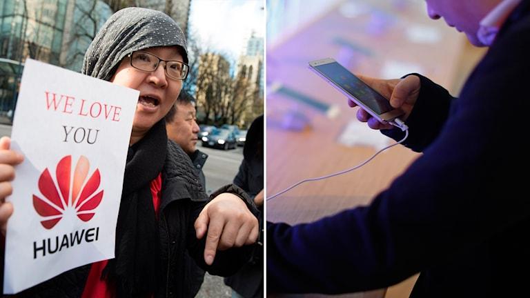 Huawei protester gripen chef telefoner