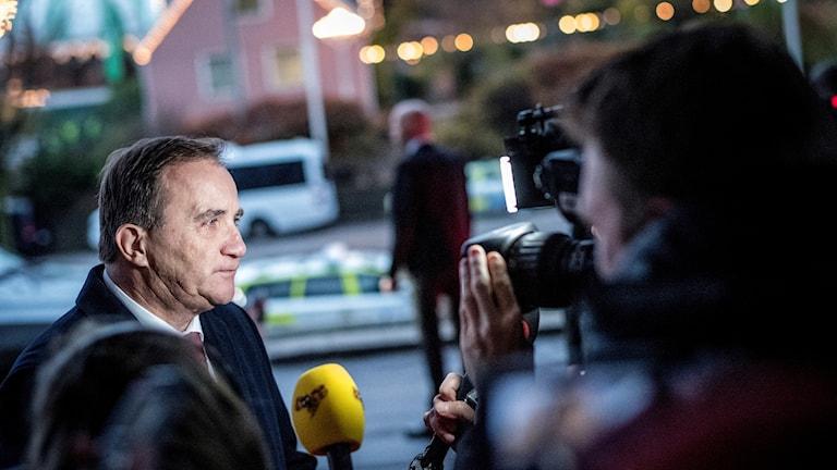 Statsminister Stefan Löfven (S) anländer till Göteborg inför det sociala EU-toppmötet.