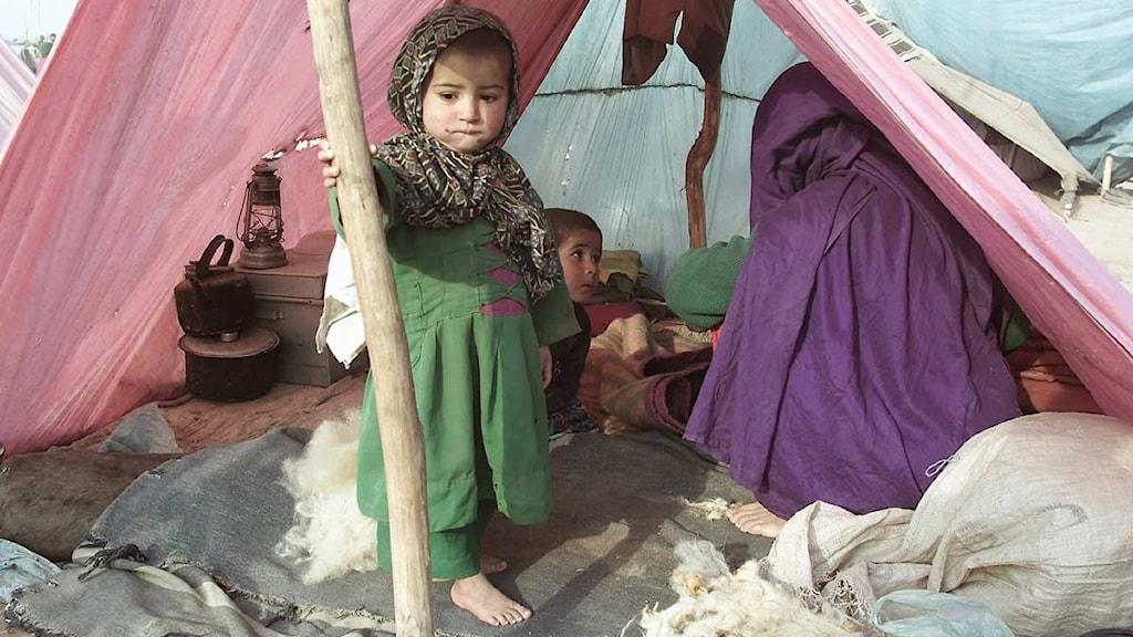 Afghanskt flyktingbarn i läger i Pakistan. Foto: B.K.Bangash/Scanpix.