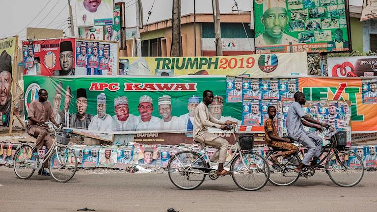 Valaffischer i staden Mubi i Nigeria