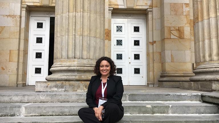 Kongressledamoten Angelica Lozano kommer rösta ja till det nya fredsavtalet.