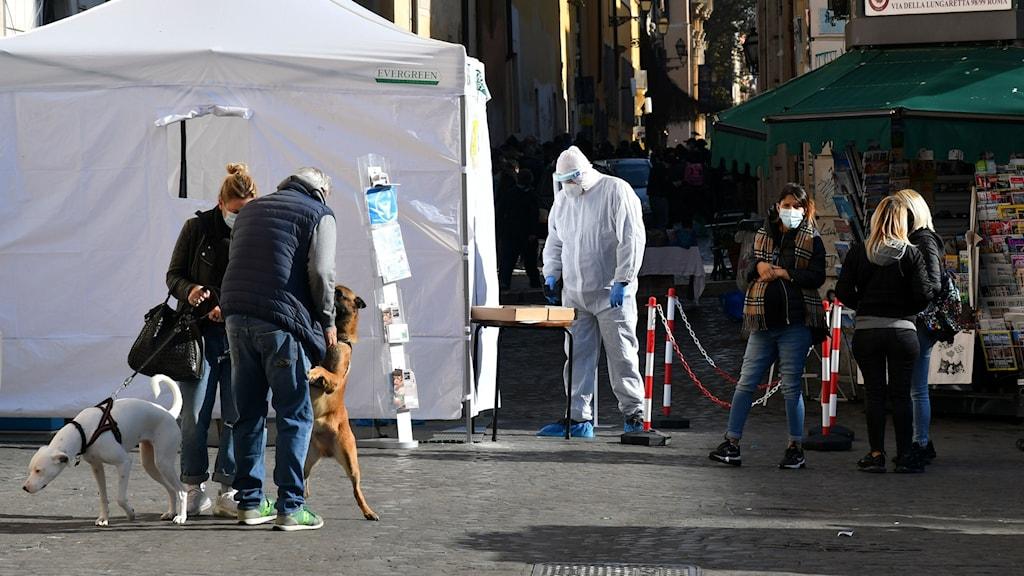 Provtagningsstation i Rom.