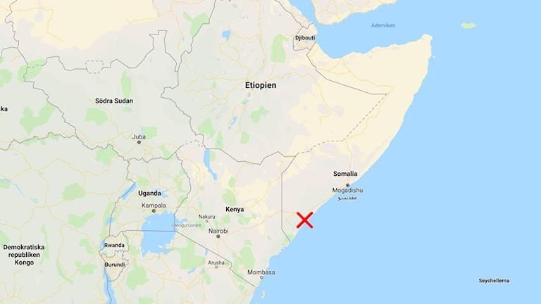 Karta över Somalia