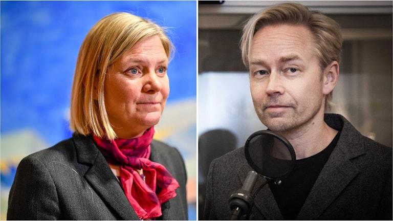 Magdalena Andersson och Fredrik Furtenbach.