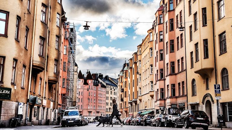Bostadshus i Stockholm.