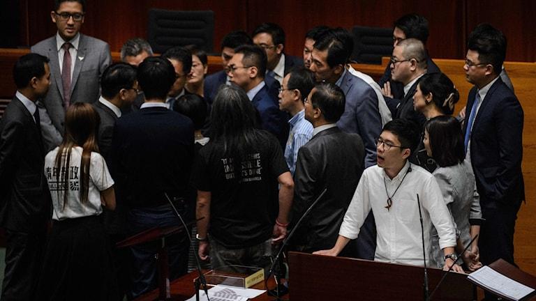 Den nyvalda lagstiftande församlingen i Hongkong har öppnat