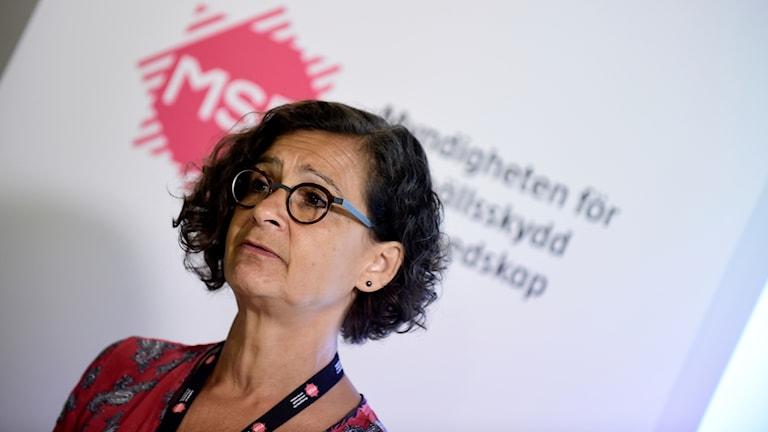 Anneli Bergholm-Söder, chef för MSB:s operativa avdelning