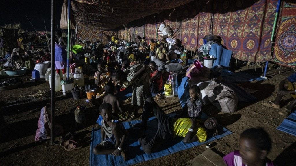 ett fyktingläger i Tigray.