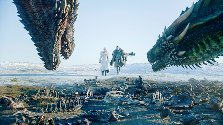 Bild från första avsnittet av sista säsongen av Game of Thrones.