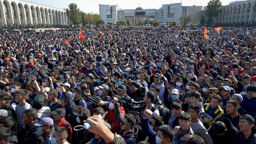 Demonstrationer i Kirgizistan.