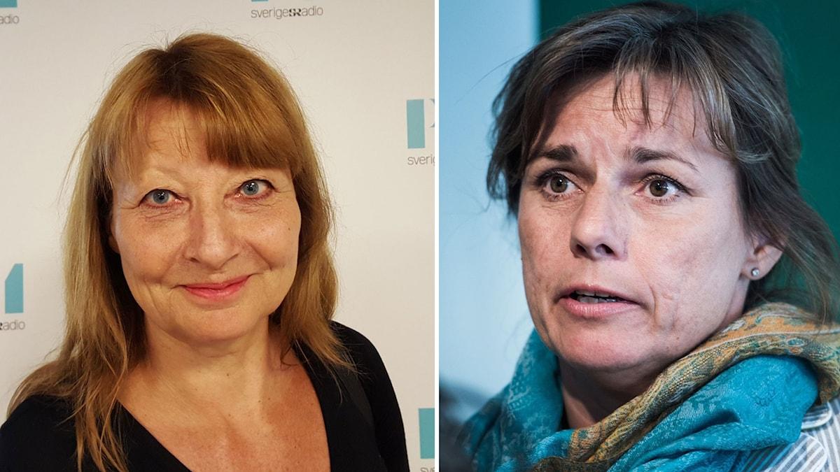 Kerstin Weigl och Isabella Lövin