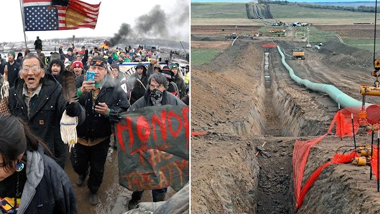 En bild på oljeledningen Dakota Access.