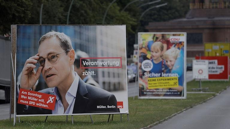 Valaffischer från Tysklands. Just nu pågår delstatsval i landet.