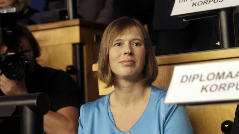 Estlands nya president Kersti Kaljulaid