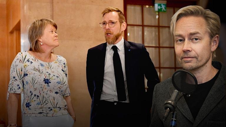 Vänsterpartiets Ulla Andersson och Kristdemokraternas Jakob Forssmed.