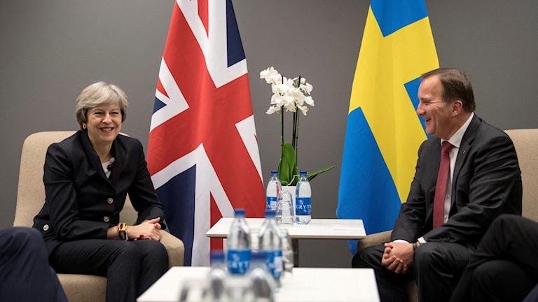 Theresa May Stefan Löfven