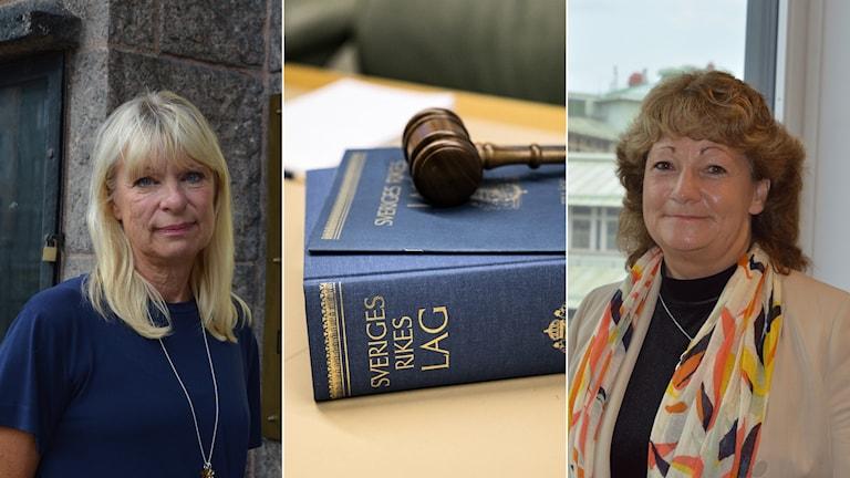 Gudrun Antemar, lagman i Stockholms Tingsrätt. Maria Isaksson, HR-direktör på Domstolsverket.