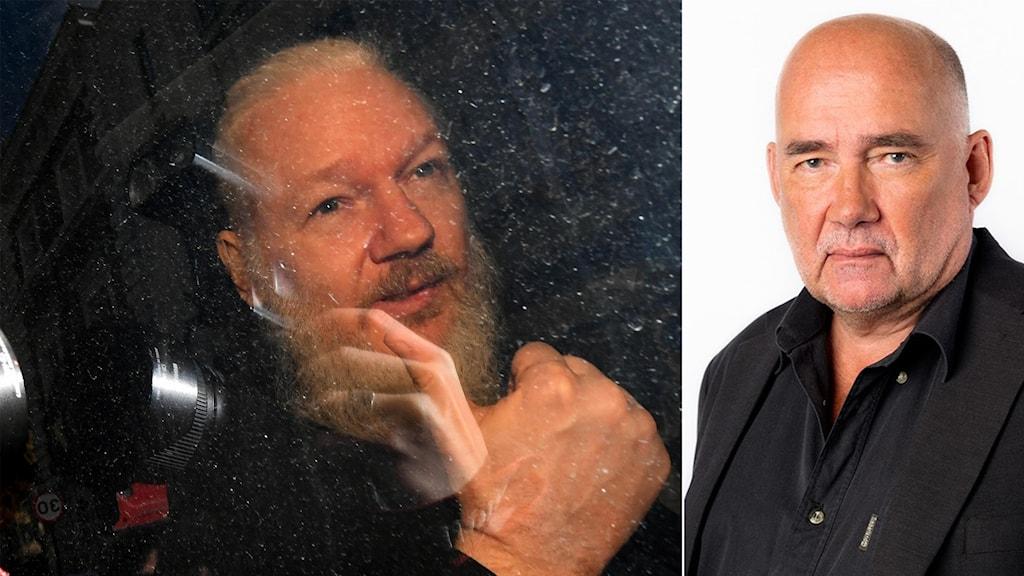 Julian Assange och Staffan Sonning