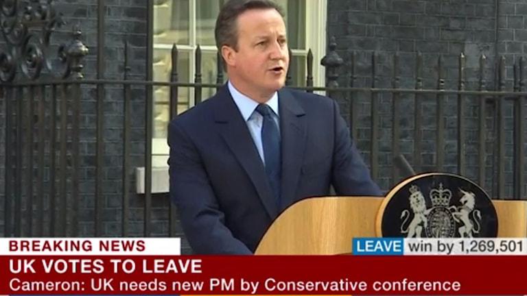 David Cameron meddelade sin avgång under fredagsmorgonen.
