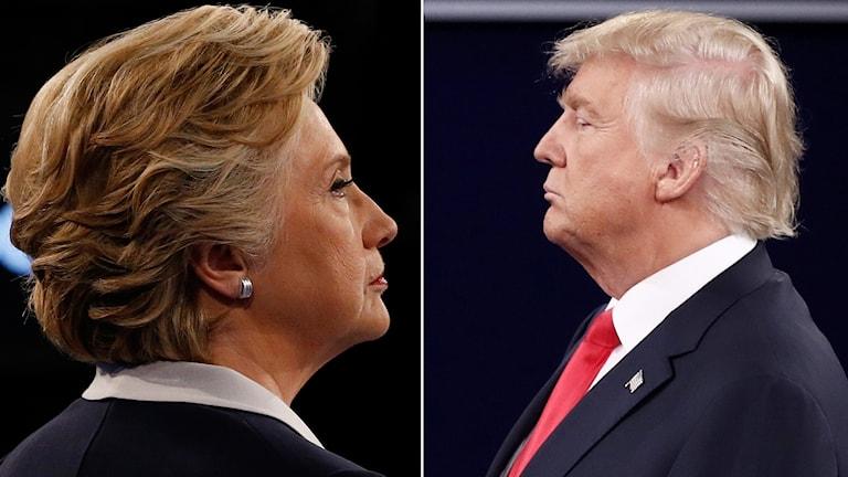 Clinton och Trump