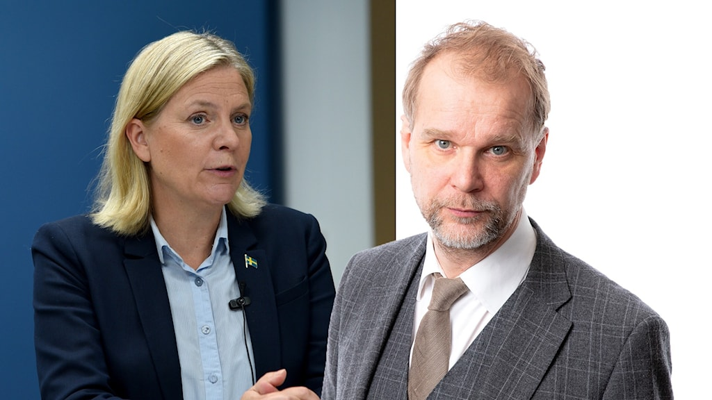 Magdalena Andersson och Ekots Kristian Åström.