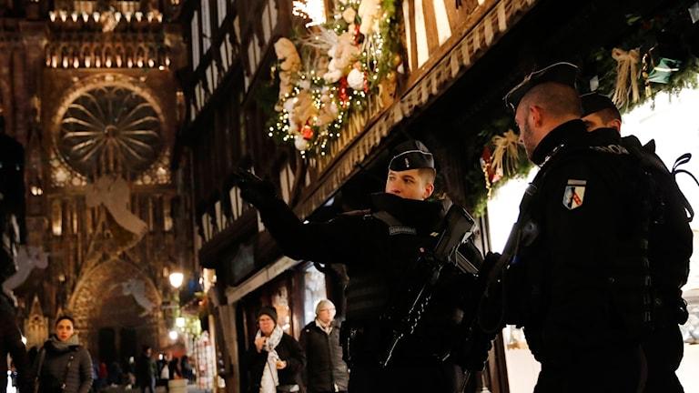 Franska poliser i Strasbourg