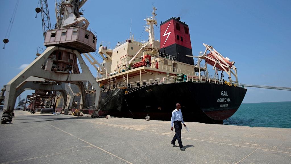 Hamnen i Hodeidah.