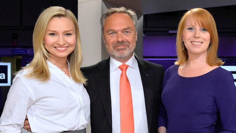 Kristdemokraternas partiledare Ebba Busch Thor, Liberalernas Jan Björklund och Centerpartiets partiledare Annie Lööf