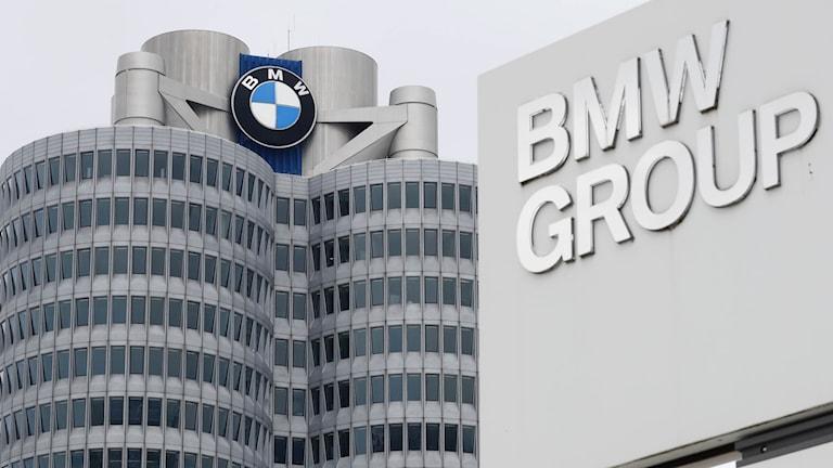 BMW:s högkvarter i München, Tyskland.
