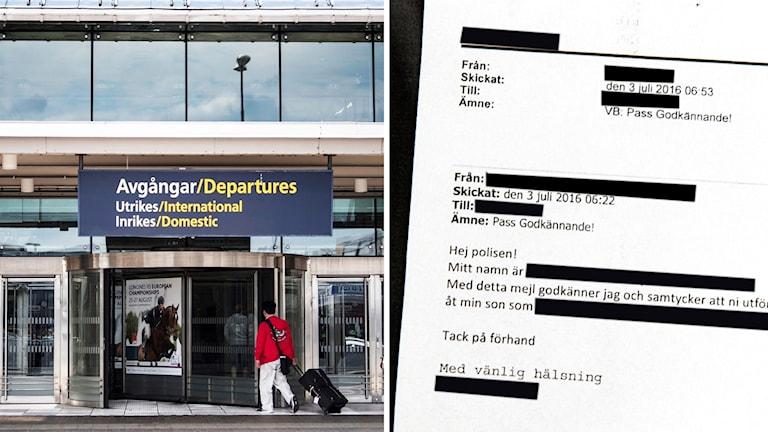 Ansökan om tillfälligt pass.