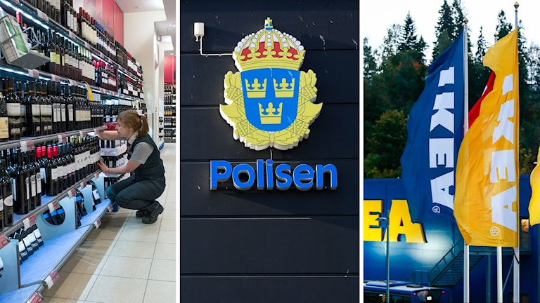 Systembolaget, polis, ikea