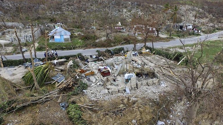 Enorma förtörelse i spåren av orkanen i Haiti