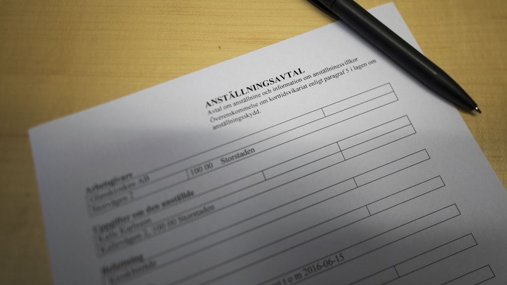 ett anställningsavtal