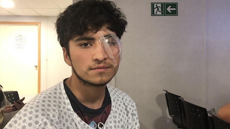 Diego Jara har förlorat sitt öga sedan han träffades av polisens gummikulor under en demonstration.