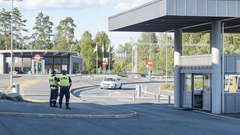 Bild på gränsen Norge-Sverige.