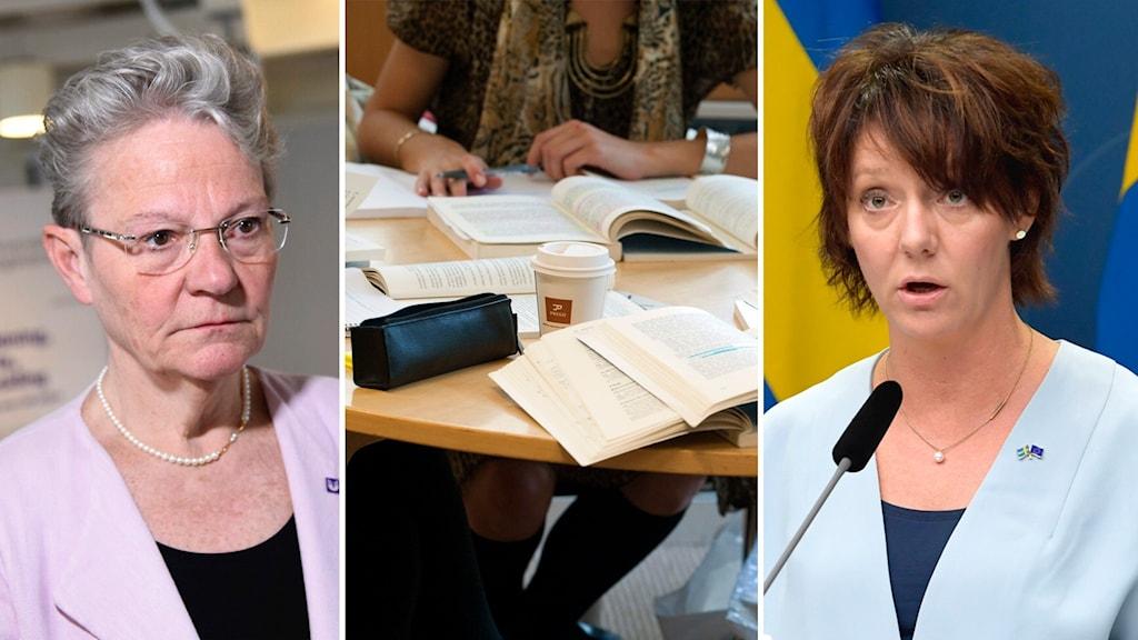 UHR:s generaldirektör Karin Röding och högskoleminister Matilda Ernkrans (S).