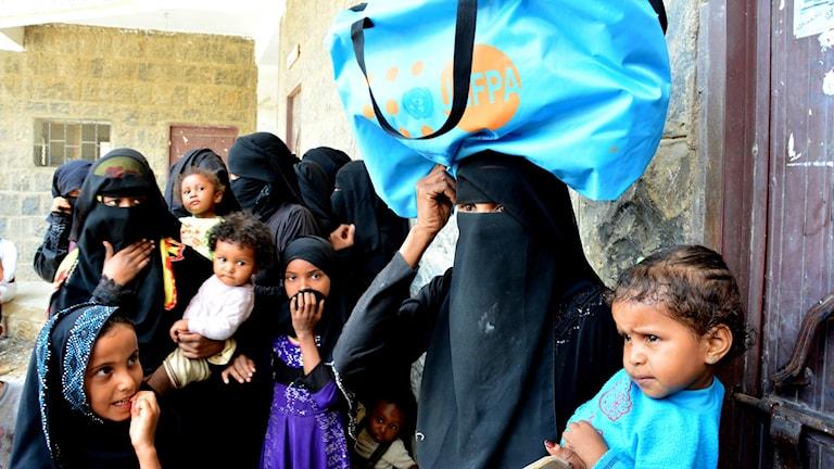 Internflyktingar i Hajja Jemen får stöd av FN:s befolkningsfond