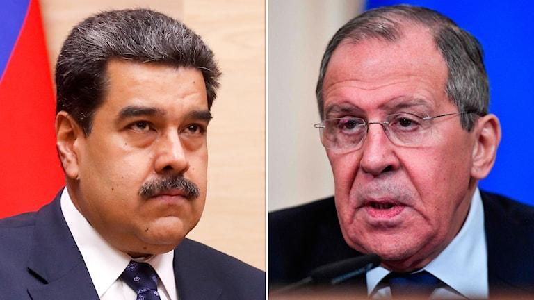 Den venezuelanske ledaren Nicolás Maduro och Rysslands utrikesminister Sergej Lavrov.