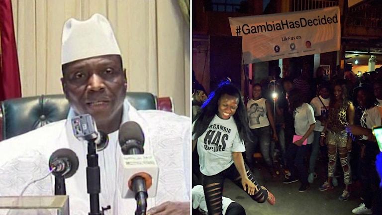 Gambias långvarige president Yahya Jammeh har nu lämnat landet efter 22 år vid makten.