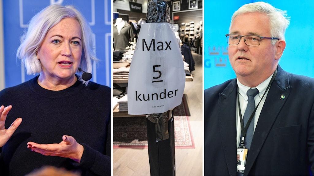Acko Ankarberg, kristdemokrat och ordförande i Riksdagens socialutskott och  Anders W Jonsson, gruppledare för Centerpartiets riksdagsgrupp.