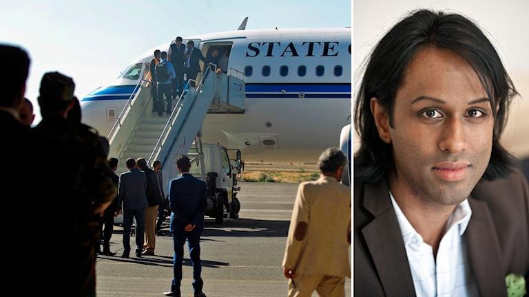 Patric Nilsson på UD bekräftar att en delegation från Huthirebeller är i Sverige för samtal om kriget i Jemen