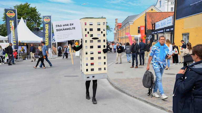 Politikmarknad på Hamnplan under politikerveckan i Almedalen.