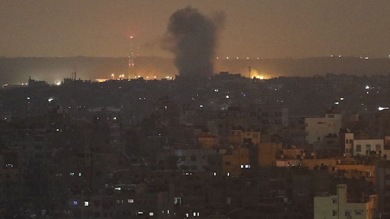 Explosion tidigt på torsdagsmorgonen i Gaza.