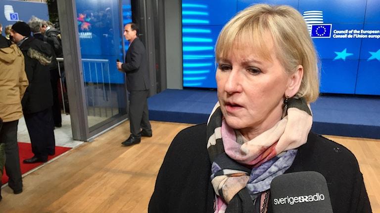 Sveriges utrikesminister Margot Wallström (S)