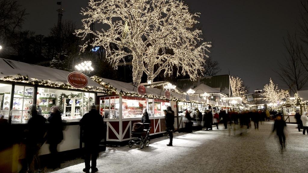 Julmarknad på Liseberg.