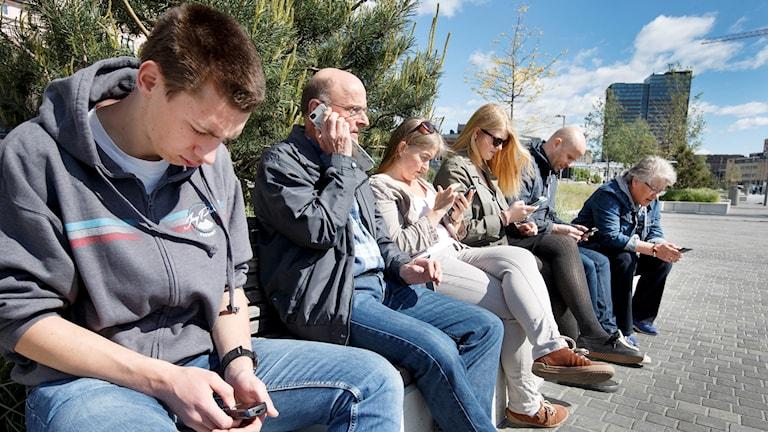 Mobil, ledig, mobiltelefon